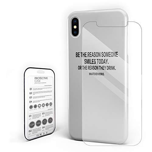 Phone Case Compatible with iPhone 11 Pro Max, Be The Reason Someone Smiles Today Case, Slim Shockproof Hard PC Phone Case with Tempered Glass Screen Protector