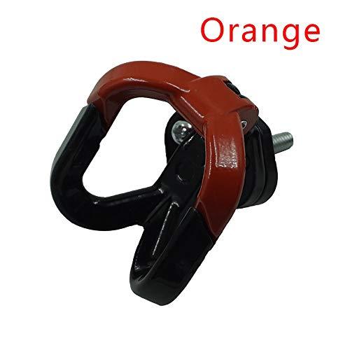 Gancho de Equipaje de la Motocicleta Bolso de la suspensión del Casco Gadget Guante Garra Doble Soportes for Las Botellas de Transporte for ATV Moto Accesorios CGFEUR (Color : Naranja)