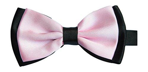 Sock Snob Satin pour homme rose luxury de bébé papillon rose & (noir)