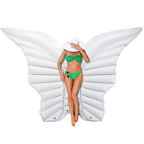 GOODS+GADGETS Aufblasbare Engelsflügel 250 cm Flügel - Luftmatratze Schmetterlingsflügel Badeinsel