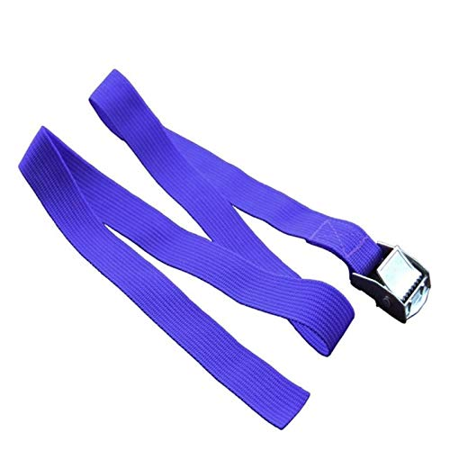UNDKI 1M Hebilla de cinturón de Amarre de Carga Correas for la Bici de la Motocicleta con Hebilla de Metal de Cuerda de Remolque Fuerte de la Correa de trinquete (Color : Blue)