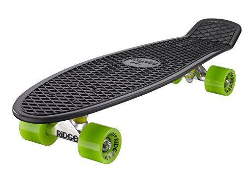 Ridge Skateboard Big Brother Nickel 69 cm Mini Cruiser, schwarz /grün