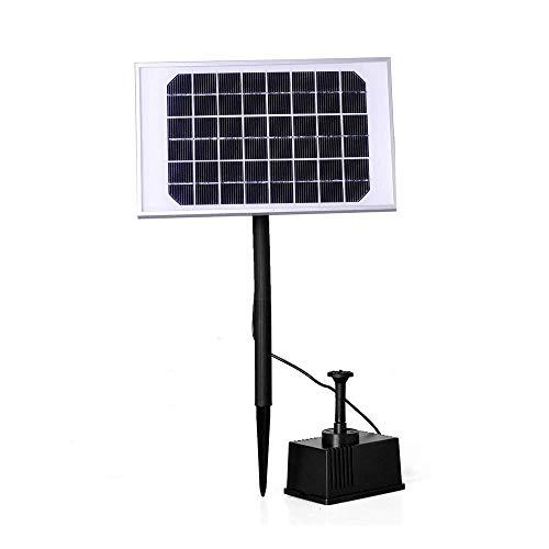 LARS360 Solar Teichpumpe Outdoor Wasserpumpe Solar Springbrunnen Solarpumpen Gartenpumpe für Gartenteich (5W)