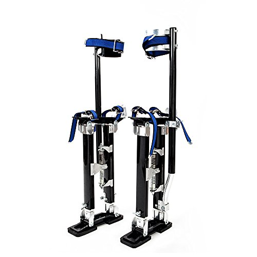 Alightup Aluminum Tool Stilts 24 to 40 Inches Height Adjustable Drywall Stilt Lifts for Taping Painting Finishing Portable Lifting Tool Black
