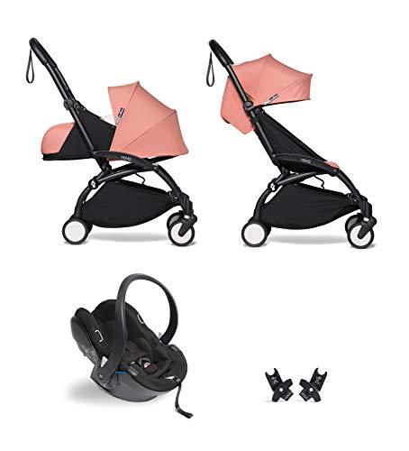 Babyzen YOYO² buggy KOMPLETTES SET 0+ und 6+ ginger Gestell schwarz mit YOYO² BeSafe iZi Go Modular i-Size Autositz schwarz