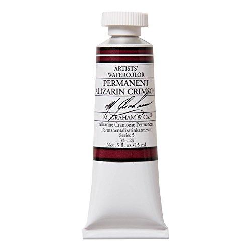 M. Graham 1/2-Ounce Tube Watercolor Paint, Permanent Alizarin Crimson