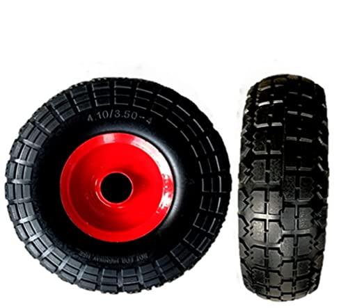 SYTZTOOLS - Juego de 2 bolsas de metal a prueba de pinchazos de 10 pulgadas para ruedas de 4,10/3,50-4 1/2 pulgadas