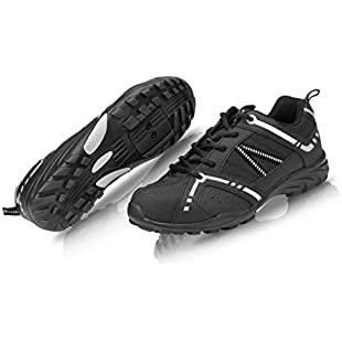 RALEIGH XLC ROAD TOURING CYCLE BIKE SHOES BLACK FLAT OR CLEATS SIZE 40, UK 6.5 50%