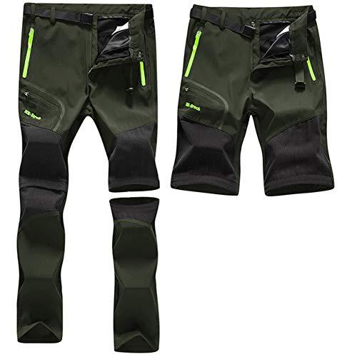ZOEREA Wanderhose Herren Convertible Shorts Schnelltrocknend Outdoorhose Leichtgewicht Draussen Klettern Gehende Reiten Funktionshose