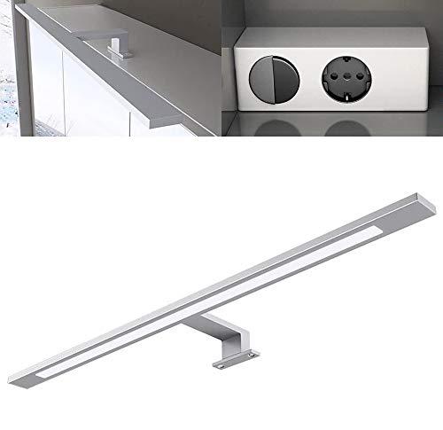 Mai & Mai Lámpara de espejo LED con transformador doble interruptor y enchufe ancho: 60cm 230V 6W A universal blanco (5000K)