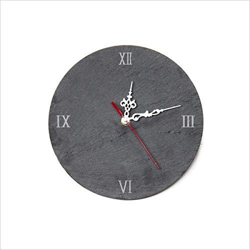 Relojes de Pared Reloj de Pared de Piedra de Piedra Creativa Reloj de Pared Tallado