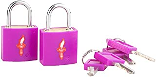 Safe Skies TSA Neon TSA-Approved Padlock Double Set, Grape Juice