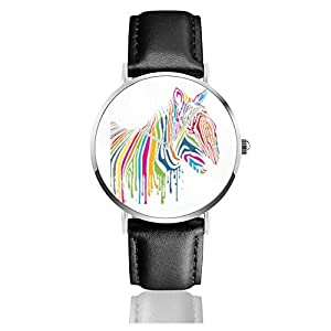 Rainbow Lucky Hippo Men Wrist Watches Genuine Leather For Gents Teenagers Boys