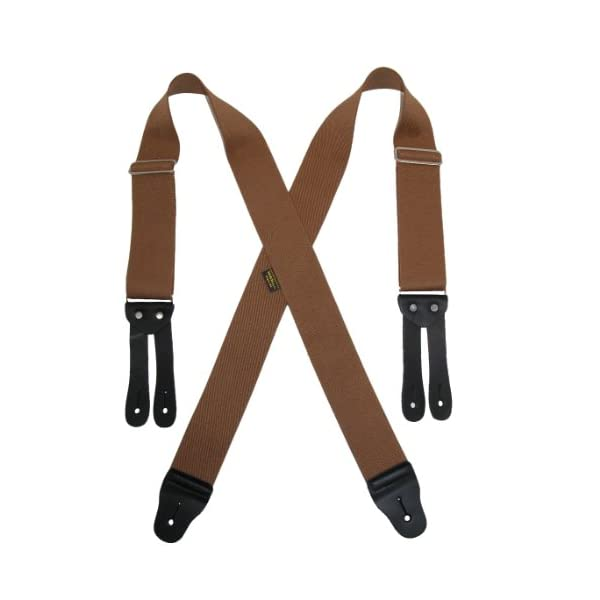 Welch Men's Big & Tall Elastic Button End Work Suspenders