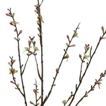 Unbekannt Künstlicher KIRSCHBLÜTENZWEIG ca 115 cm. Kirsch - Blüten - Knospen - AST, Zweig in PFIRSICH PINK 18606 25
