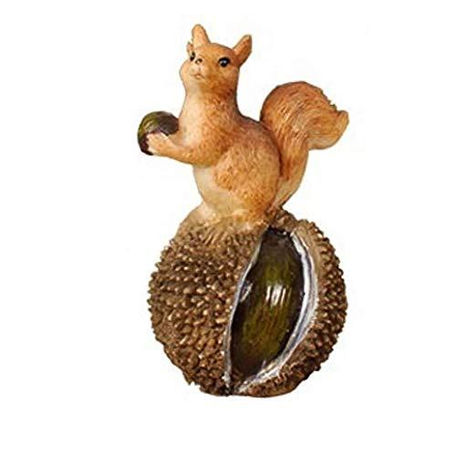 DierCosy Eichhörnchen Figuren Simulation Eichhörnchen Ornament Garten-Tier-Dekoration-Harz für Rasen-Garten-Hof Style3
