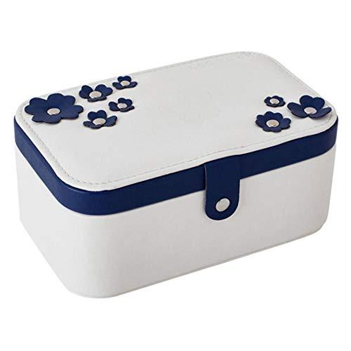 MFM Joyero, Caja de presentación Multicapa del Almacenamiento del Anillo del Pendiente, Estante plástico de la Bandeja-Blanco