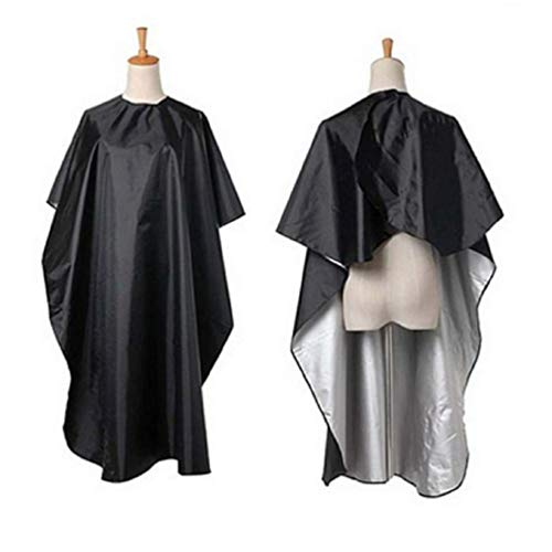"""Waterproof Barber Cape Professional Salon Cape with Snap Closure, Hair Styling Cape Nylon Hair Cutting Salon Cape Hairdresser Cape Hairdressing Cape- 57.1"""" x 45.3"""""""