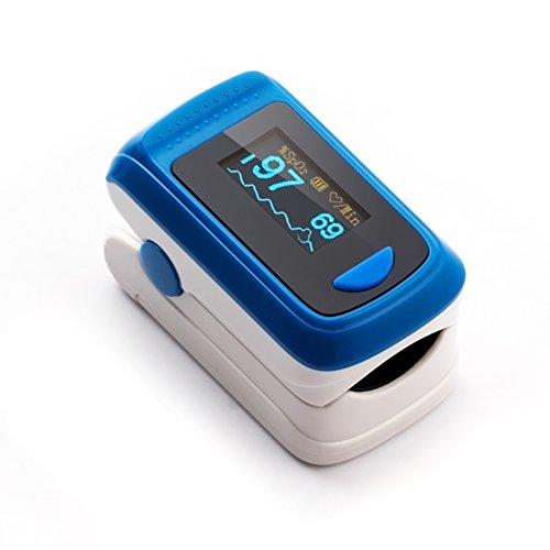 Herbie Life® HL-100A Dedo Oxímetro de Pulso - Azul