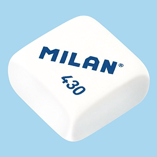 Caja 30 Gomas 430 de borrar MILAN modelo CMM430 Colores Surtidos