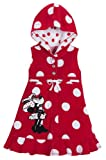 Disney Store Red Minnie Mouse Swimsuit Cover Up Size Small 5/6 Hooded Swimwear