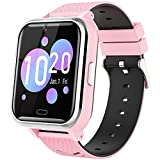 Kids Smart Watch Girls Boys - Smart Watch for Kids Watches Ages 4-12 Years with 17 Learning Games Dual Camera Music Video Player Alarm Clock Calculator Calendar Flashlight Children Toys Gifts (Pink)