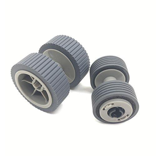OKLILI PA03540-0001 PA03540-0002 Brake Roller + Pick Roller Pickup Roller Compatible with fi-6240Z fi-6140Z fi-6230Z fi-6130Z fi-6240 fi-6140 fi-6230 fi-6130 fi-6125 fi-6225