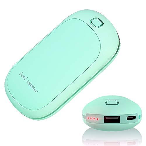 Wiederaufladbar Handwärmer-Beidseitiger Elektrischer Handwärmer USB tragbar 5200mAh elektrische Handheizung, Körperwärmer batterie betrieben Ideal für Camping, Jagd, warmes Geschenk, Power Plus