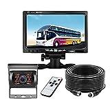 """Telecamera di Parcheggio per auto, kit Telecamera di Retromarcia Monitor Retromarcia LCD da 7"""" + Grandangolo 120 °, vVsione Notturna 18 IR, Telecamera Posteriore Impermeabile IP68"""