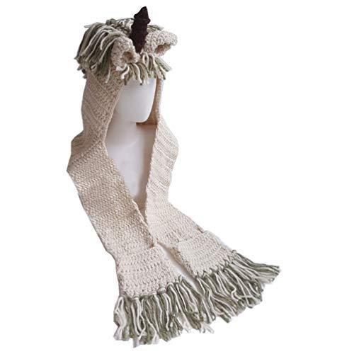 Tendycoco eenhoorn voor kinderen met sjaal winterwarm wollen muts sjaal groen