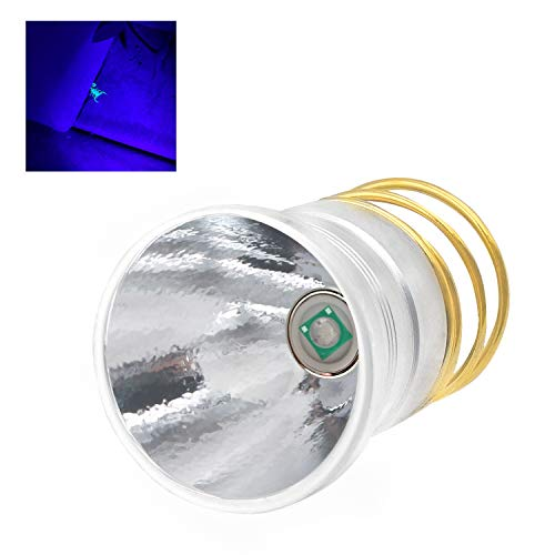 395nm UV Black Light Flashlight LED Replacement Bulb Single Mode P60 Drop-in Module for Surefire C2 G2 Z2 6P 9P G3 S3 D2