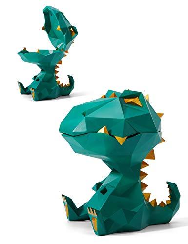 Amoy-Art Keksdose Vorratsdosen Einfach zu Reinigen Canister Geometric Dinosaurier Figur Skulptur für das Haus Geschenk Giftbox 18cmH