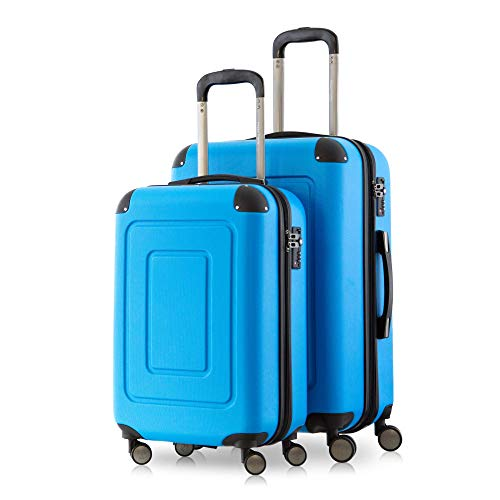 Happy Trolley Lugano Koffer-Set, 66 cm, 78.0 Liter, Cyan Blau