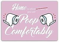 家で快適にうんち、トイレの看板金属ブリキ看板ホーム装飾壁アート