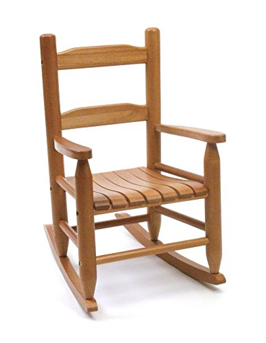 Lipper International Child's Rocking Chair, 14.5' W x 19.75' D x 23.75' H, Pecan...