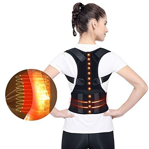Rückenstütze Haltungskorrektur Geradehalter für Rücken Schulter Magnetische Haltungshöcker Korrekturstütze Schulter Rücken Taillen Stützgürtel Lordosenstütze für Schmerzen im Unteren und Oberen Rücken
