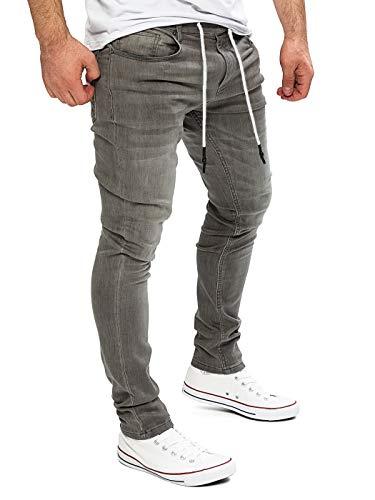 Yazubi Homme Jean Pantalon de Sport Erik- Sweatpants Jogging, Gris (Dark Gull Gray 180403), W34/L34