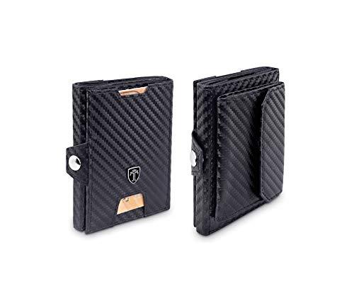 TRAVANDO Slim Wallet - Mini Geldbörse Herren Klein - Kartenetui - RFID Geldbeutel Männer - Kreditkartenetui - Portemonnaie for Men, Portmonai, Portmonaise, Geldtasche, Portmonee, Brieftasche Damen