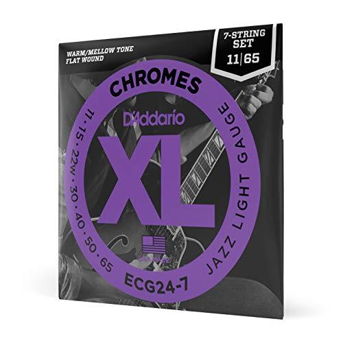 D'Addario ECG24-7 - Juego de cuerdas para guitarra eléctrica de cromo.011 -...