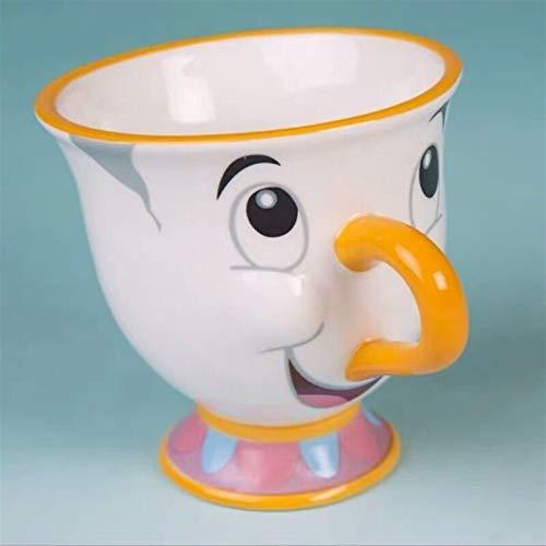 Taza de café de cerámica de la belleza y la bestia de cerámica taza de café taza de leche para el hogar oficina taza taza de té taza de porcelana blanca decoración de mesa regalo creativo taza de café