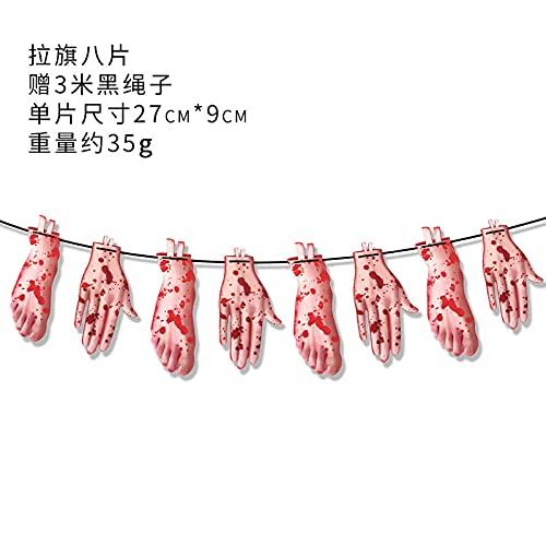 TYFYBH Halloween Cuchillo de Sangre Carta Papel Pollo Festival Festival Fiesta Bandera Arreglo Suministros Decoración de Halloween (Size : B)