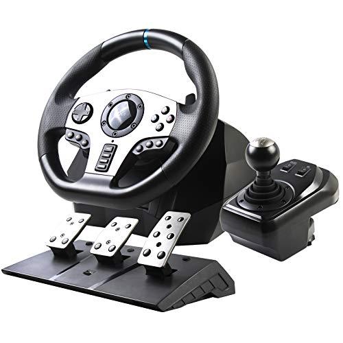PXN V9 Racing Wheel ,Rennlenkrad mit Pedalen und Schalthebel Für PC, PS3, PS4, Xbox One, Nintendo Switch,PC Lenkrad,900°Lenkbereich