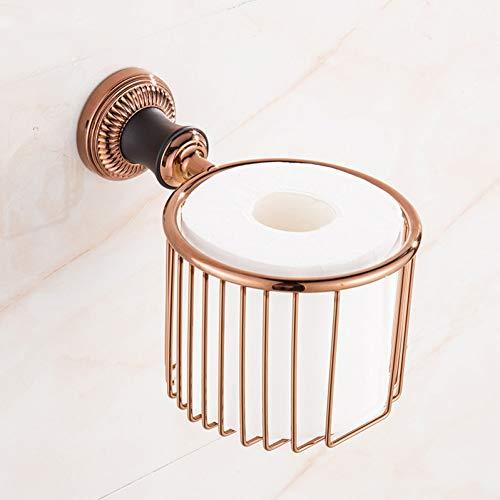YHSGY Klopapierhalterung Gold Tissue Basket Schwarz Patina Hardware Anhänger American Toilette Antike Toilette Papierkorb Roségold Roll Papierhalter