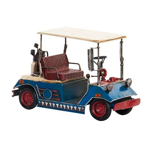 Vintage golfwagen decoratief figuur van metaal, 2 modellen om uit te kiezen. Realistisch design, 28 x 14 x 19 cm.