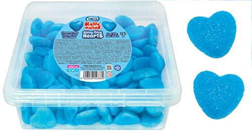 VIDAL - Shiny blue Hearts - Corazones Pica Azul - Rellenolas- 125 Unid