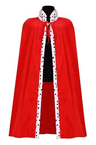 narrenkiste T2875-0500 - Capa de rey para hombre (135 cm), color rojo