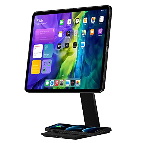 PITAKA Magnetic MagEZ Stand for iPad and Tablet Holder Table Stand with 15W Smartphone Wireless...