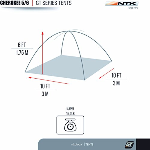 NTK Cherokee GT 5 to 6 Person Tent