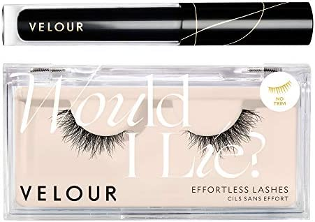 Velour Lash Liner and Eyelash Glue Bundle Natural Lightweight Silk Lashes and Lash Go Eyeliner product image
