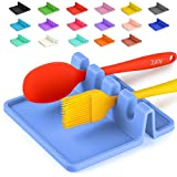 Silicone Utensil Rest with Drip Pad for Multiple Utensils, Heat-Resistant, BPA-Free Spoon Rest & Spoon Holder for Stove Top, Kitchen Utensil Holder for Ladles, Tongs & More - by Zulay (Serenity)